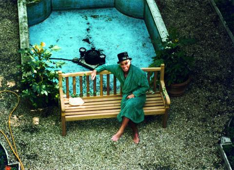 Belmondo in seinem Garten
